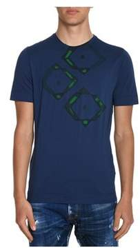 H953 Men's Blue Cotton T-shirt.