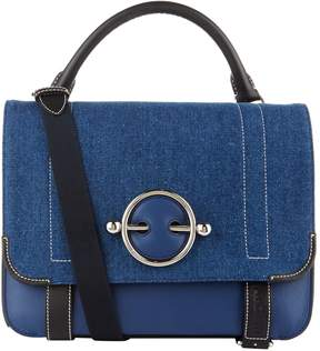 J.W.Anderson Denim and Leather Disc Satchel Bag