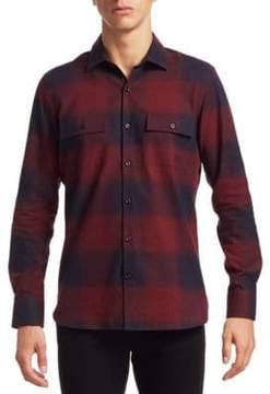 Saks Fifth Avenue MODERN Flannel Cotton Casual Button-Down Shirt