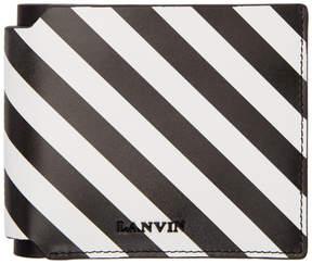 Lanvin Black and White Striped Wallet