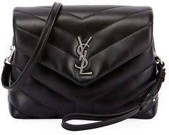 Saint Laurent Loulou Monogram XS Calf Leather Crossbody Bag - IVORY - STYLE