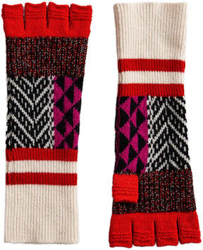 Burberry fingerless patchwork gloves