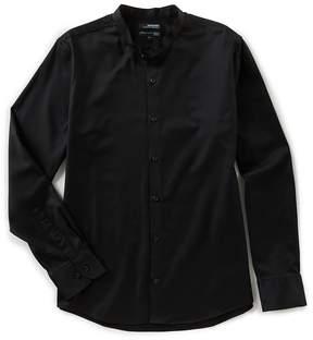Murano Wardrobe Essentials Slim Long Sleeves Mandarin Collar Woven Shirt