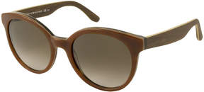 Tommy Hilfiger Sunglasses - Th1242S / Frame: BrownWith Wood Grain Temples Lens: Brown Gradient