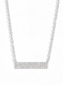 Ef Collection Women's Mini Diamond Pendant Necklace