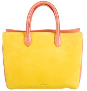 Jil Sander Small Suede & Leather Satchel