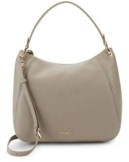 Furla Zip Leather Top Handle Bag