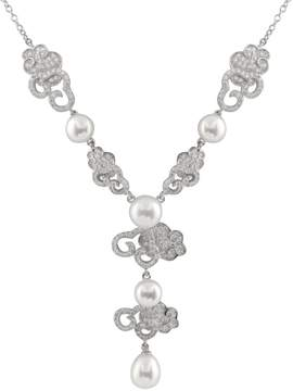 Bella Pearl Sterling Silver Y-Shaped Necklace