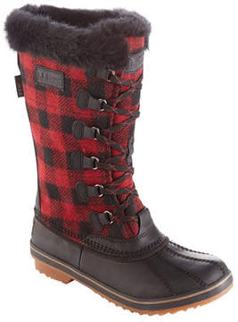 L.L. Bean Women's Waterproof Rangeley Pac Boots, Tall Plaid Insulated