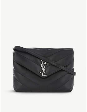 Saint Laurent Monogram Lou Lou quilted leather cross-body bag - BLACK - STYLE