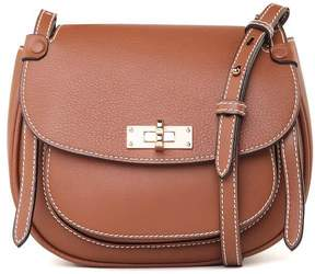 Bally B Turn Saddle Md Textured-leather Cross-boy Bag
