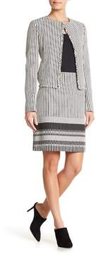 BOSS Vemala Stripe Boucle Suit Skirt