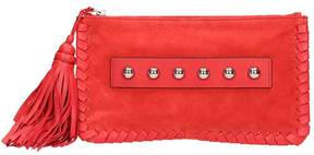 RED Valentino Red Leather And Suede Clutch Bag