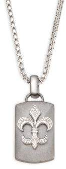 Effy Sterling Silver Emblem Pendant Necklace