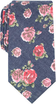 Bar III Men's Douglass Rose Floral Skinny Tie, Created for Macy's