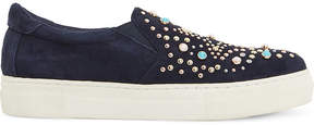 Dune Elha star embellished suede trainers