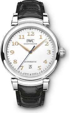 IWC IW356601 Da Vinci stainless steel and leather automatic watch