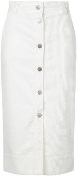 ESTNATION mid-length button skirt