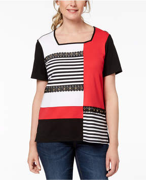 Alfred Dunner Barcelona Colorblocked Top
