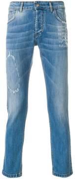 Entre Amis slim fit distressed jeans