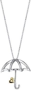 Disney Two-Tone 10K Gold and Silver Pinnochio Umbrella Pendant Necklace