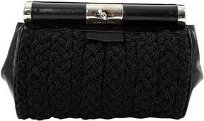 Dries Van Noten Black Leather Clutch Bag