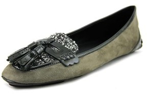 Elie Tahari Reese Round Toe Suede Loafer.