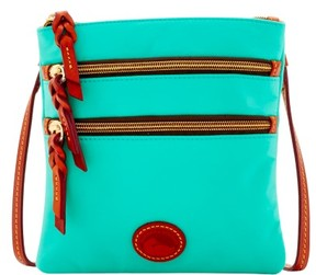 Dooney & Bourke Nylon North South Triple Zip Shoulder Bag - MINT - STYLE
