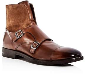 To Boot Men's Broome Leather & Suede Monkstrap Boots