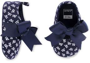 Carter's Baby Girl Bow Floral Mary Jane Crib Shoes