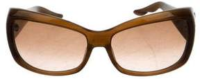 Oscar de la Renta Jewel-Embellished Gradient Sunglasses