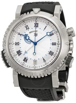 Breguet Marine Royal Silver Dial Black Rubber Men's Watch