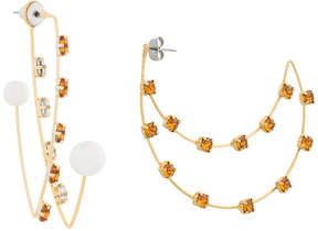 CITYSHOP amber rhinestone peal drop earrings