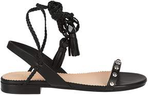 RED Valentino Fringed Flat Sandals