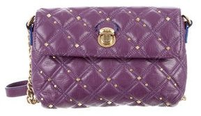 Marc Jacobs Quilted Studded Shoulder Bag - PURPLE - STYLE