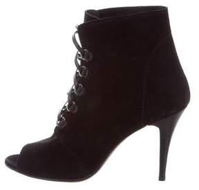 IRO Suede Peep-Toe Boots