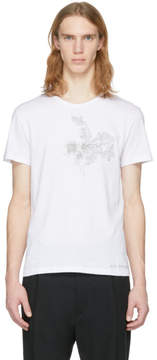 Alexander McQueen White Embroidered Skull T-Shirt