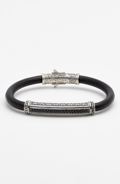 Konstantino Men's 'Plato' Leather Bracelet