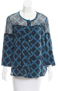 Timo Weiland Silk Printed Top
