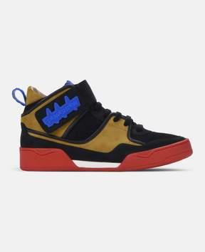Stella McCartney black high-top tomorrow-print sneakers