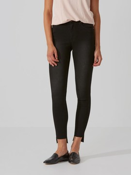 Frank and Oak The Debbie High-Waist Raw Jean in Washed Black