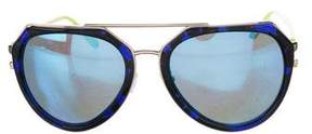 Matthew Williamson Reflective Aviator Sunglasses