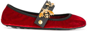 Car Shoe velvet bee ballerinas