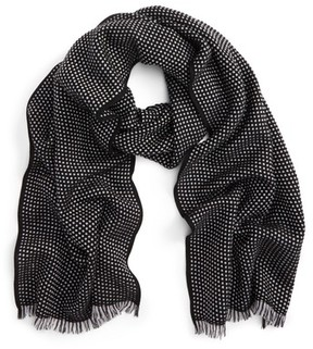 Canali Men's Dot Wool Scarf