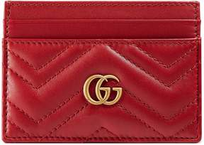 Gucci GG Marmont card case - HIBISCUS RED LEATHER - STYLE