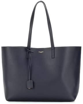 Saint Laurent Leather shopper - BLUE - STYLE