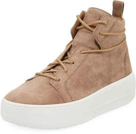 Giuseppe Zanotti Men's Suede Platform High-Top Sneakers