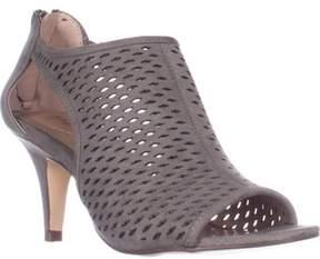 Style&Co. Sc35 Haddiee Perforated Caged Peep Toe Heels, Dark Graphite.
