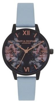 Olivia Burton Women's After Dark Leather Strap Watch, 30Mm