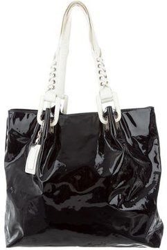 Roger Vivier Bicolor Patent Leather Tote